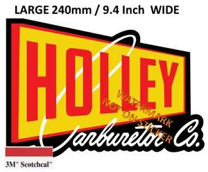 VINTAGE-HOLLEY-CARBURETOR-CARBY-Large-Decal-Sticker-9-4-INCH-DIA-240-MM-HOT-ROD