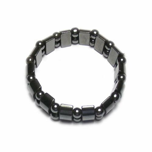 Natural Black Gallstone Anti-Fatigue Magnetic Therapy Bracelet Unisex Chain