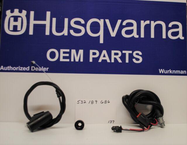 Husqvarna 532189686 Key Start Switch /& Cable For 62522FE 65021ES 65022ES XT722FE