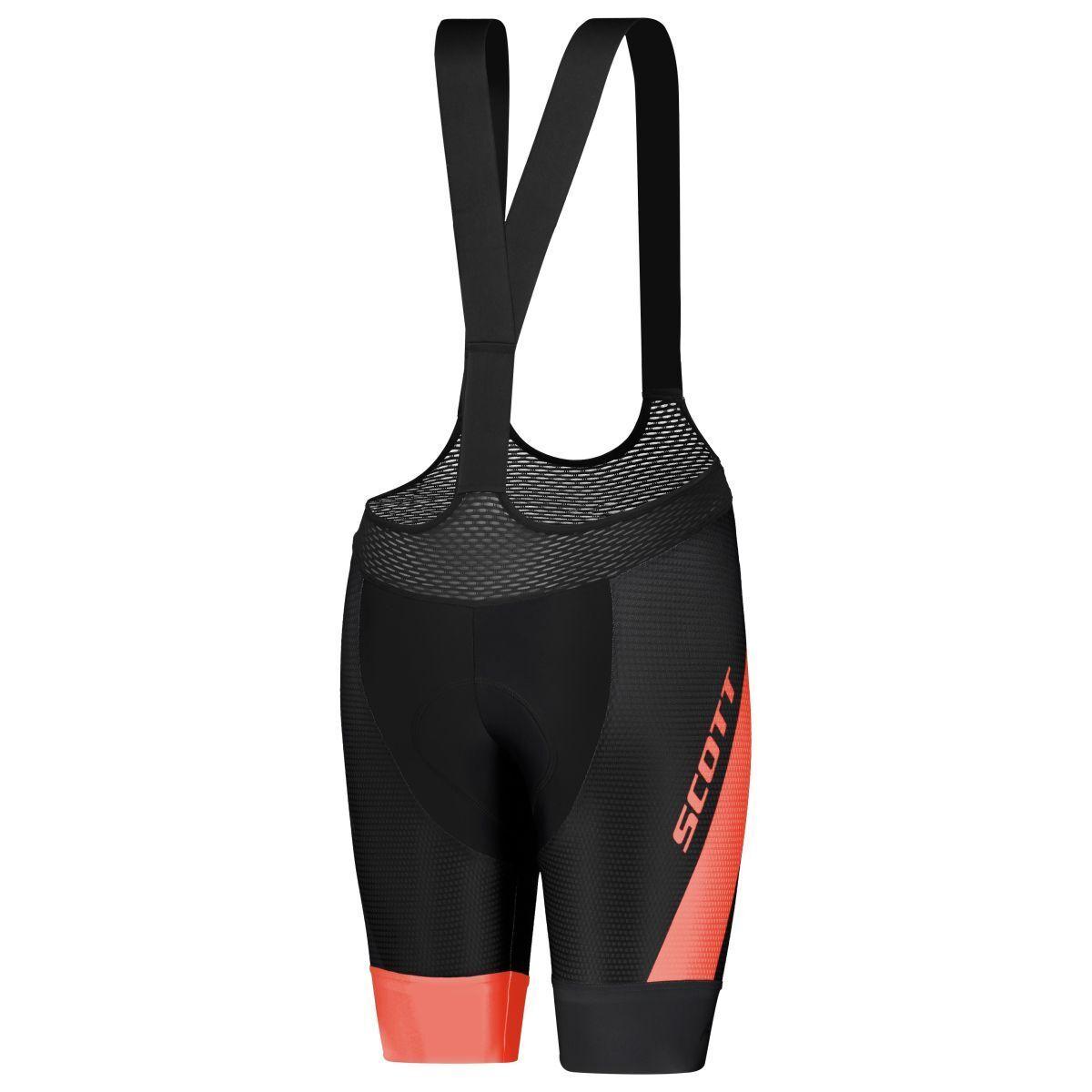 Scott RC Pro +++ DaSie Fahrrad Trägerhose kurz schwarz coral rot 2019