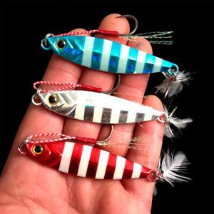 Spinning Baits Spoon Lure Jig Metal Slice Lead Casting Fishing Metal VIB Lures