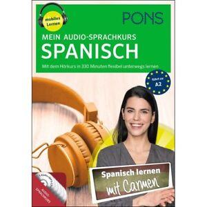 SPANISCH-lernen-ohne-Buch-Anfaenger-Sprachkurs-mit-5-Audio-CDs-Begleitheft