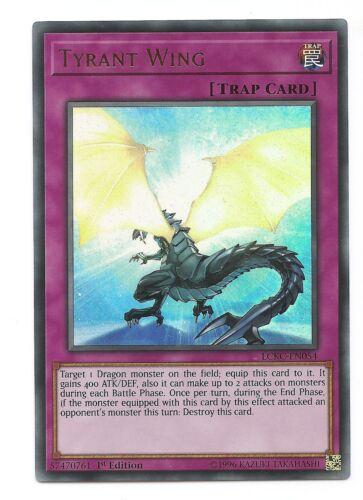 Tyrant Wing LCKC-EN054 Ultra Rare Yu-Gi-Oh Card 1st Edition English Mint New