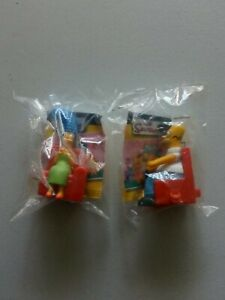 SIMPSONS FIGURINES | 2008 BURGER KING TOYS | HOMER  & MARGE SIMPSON NEW IN BAG