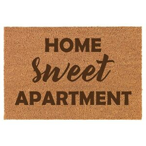 Coir Door Mat Entry Doormat Funny Home Is Where The Doodle Is Dog