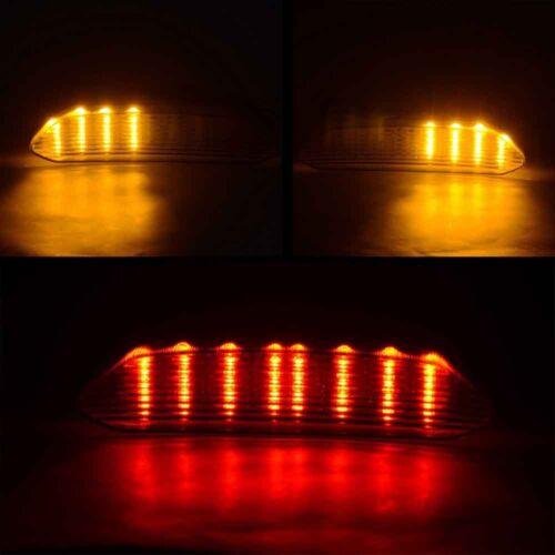12 V DEL queue frein Lampe Turn Signal Lumineux Pour Yamaha YZF R1 2002-2003 Smoke Lens