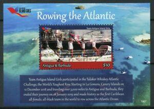 Antigua & Barbuda 2019 Neuf Sans Charnière Island Filles Definitives Aviron 1 V S/s Sports Timbres-afficher Le Titre D'origine Avoir Un Style National Unique