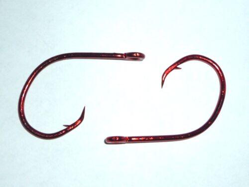 Sea Guard Red Size 5//0 100 Eagle Claw Lazer Sharp Circle Sea hooks BULK