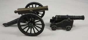 Lot Of 2 Vintage Penncraft Cast Metal Cannons