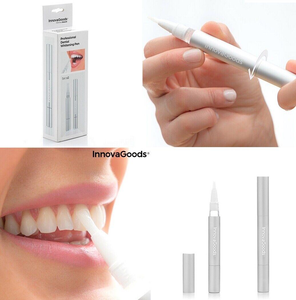 Set de 2 Lápiz gel Blanqueador Dental,2x 2ml,Nº aplicaciones:2x 20,aluminio y PP