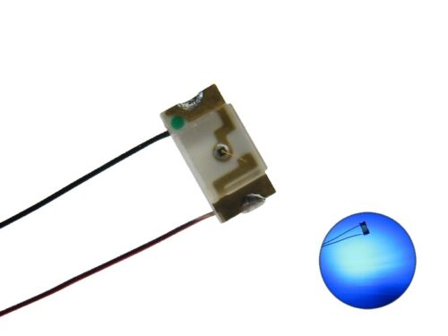S1024-10 Stück SMD LEDs 1206 blau mit CU-Draht Kupferlackdraht Kabel