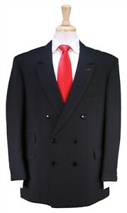 TAILORED-BY-GEORGE-Custom-Made-for-JERRY-LEWIS-Black-Double-Breasted-Suit-46R