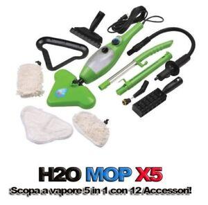 H2O-MOP-X5-SCOPA-A-VAPORE-VAPORETTO-LAVAPAVIMENTI-IGIENIZZANTE-STERILIZZATORE