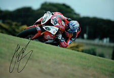 Josh BROOKES SIGNED WSBK Milwaukee BMW Rider Autograph 12x8 Photo C AFTAL COA