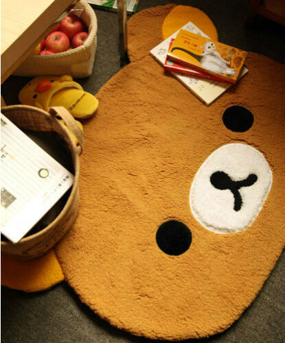 San-X 35/'/' Rilakkuma Relax Bear Mat Rugs Carpet For Living Room Home Decor Gifts