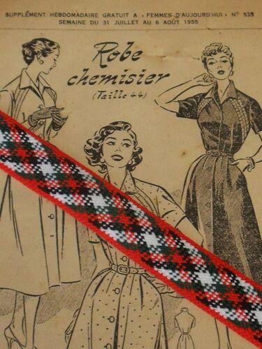ANCIEN  GALON BARBARELLA TON ROUGE  ANNEE 60 26MM vendu au mètre