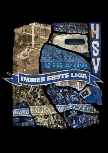 "S-4XL HAMBURGER SV HSV limited Edition HERREN T SHIRT ""Immer erste Liga"" Gr"