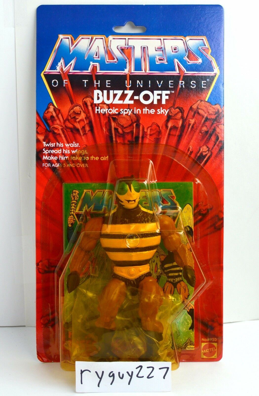 MOTU, Buzz-Off, Masters of of of the Universe, MOC, carded, sealed, He Man, figure d17557