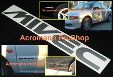 2x 6inch 15.2cm MIVEC decal sticker Mitsubishi Eclipse MR Lancer Galant GSR VR 4