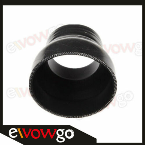"""3.5/"""" To 2.75/'/' inch Straight Reducer Silicone Coupler 3 Ply Hose Pipe Black"""