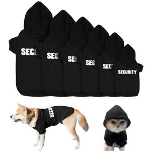 SECURITY-Dog-Hoodie-Clothes-Pet-Puppy-Cat-Coats-Jacket-Sweatshirt-for-Dogs-S-M-L