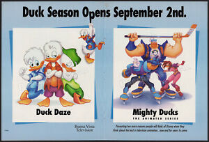 MIGHTY DUCKS_/_DUCK DAZE__Original 1996 Trade AD / TV promo / poster__QUACK PACK