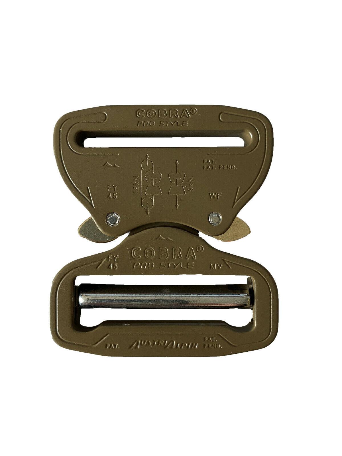 AustriAlpin 45mm 4.4cm Coyote Brown Schnalle Stecker Einstellung Buchse Fix
