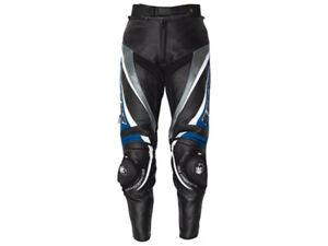 iXS Lederhose Robin   Schwarz-Blau-Weiß   Motorradhose aus Rindsleder