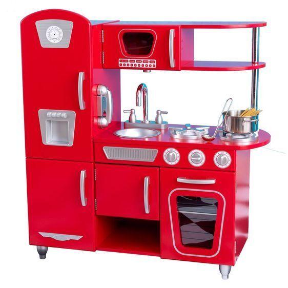 NEW KidKraft Red Vintage Play Kitchen