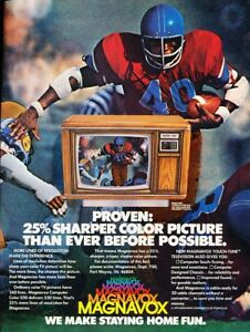 1980-Magnavox-TV-Football-Player-Original-Vintage-Advertisement-Print-Ad-J903