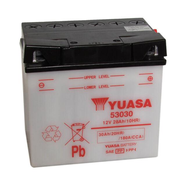 Bike Battery Yuasa 53030 12V 30AH 180A 186X130X171MM ACID