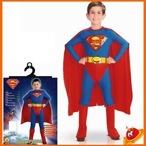 Travestimento Super eroe Halloween Colore blu 5-6 anni Taglia M Bambino - Bambino di acciaio Costume Carnevale