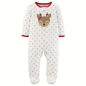 3d38b94c501b Child of Mine by Carters Baby Girl Microfleece Sleep N Play 0-3 ...