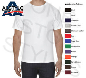 cf9a2109863 AAA Alstyle T-Shirts Plain Cotton Assorted Color Blank Screen Tees ...