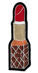 Écusson patche rouge à lèvre patch décoratif pour vêtements thermocollant