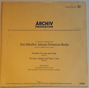 """Das Schaffen J. S. Bach Helmut Walcha Archiv Produktion 13024 10"""""""