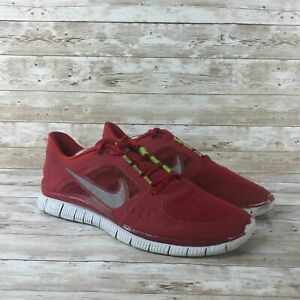 Nike-Free-Run-3-Mens-Size-11-5-Red-White-Athletic-Training-Running-Shoes
