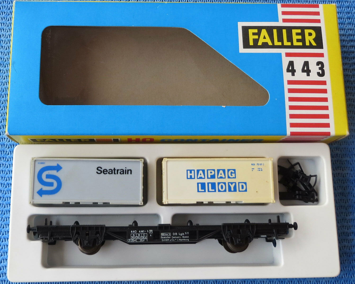 Faller AMS  443 --  Waggon mit Container  in OVP -- RAR -