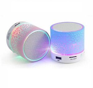 Wireless Mini LED Lights Bluetooth Speaker