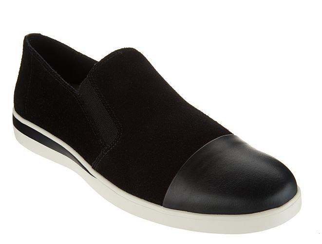 protezione post-vendita ED Ellen DeGeneres Perforated Suede Slip-Ons - Aviana donna scarpe scarpe scarpe nero 7 New  autorizzazione