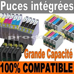 cartouches encre compatible non oem imprimante epson stylus t0711 t1285 t1295 ebay. Black Bedroom Furniture Sets. Home Design Ideas