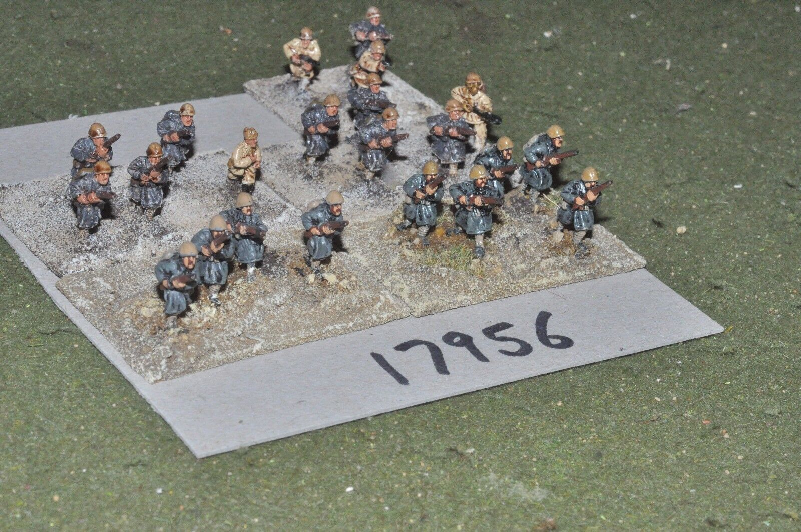 15mm WW2   italian - n. african campaign infantry 22 figs - inf (17956)