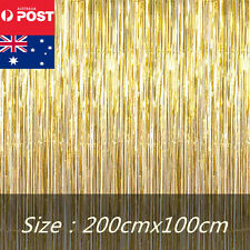 gold metallic tinsel curtain foil party christmas door decoration shiny string - Foil Christmas Door Decorations