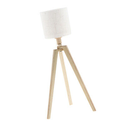 1:6 Furniture Bedroom Floor Lamp LED Lighting For Doll House Accessories
