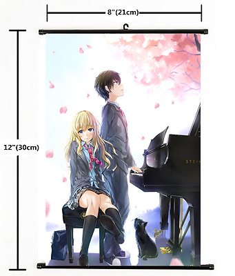 Shigatsu wa Kimi no Uso Your Lie in April Anime Wall Scroll Poster 1697