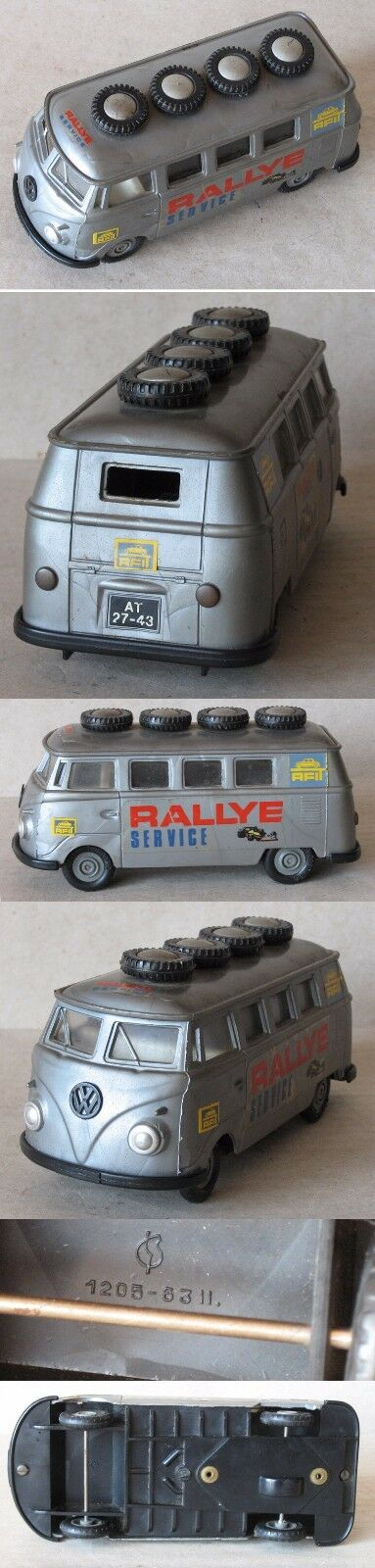 Juguete Antiguo Alemán marcado Microbús VW RALLEY servicio ca. 1960s 1960s 1960s 1b79b2