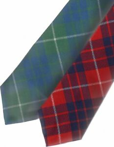 Mens Tie All Wool Made in Scotland Hamilton Ancient Tartan