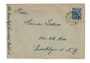 Briefmarke Brief Besatzung Deutsche Post Posthorn Band überdruck