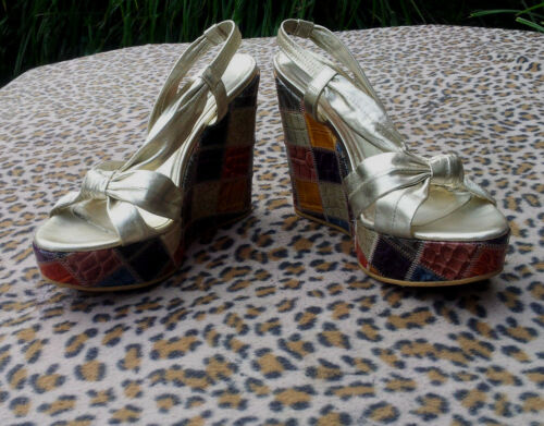 Size Wedge Multi Dune Shoes Platform Uk 39 sandals Colored 6 dtYwtqx7
