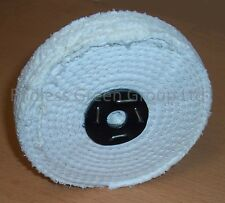 """6"""" Stitched Cotton Buffing Wheel 150mm x 25mm  ideal for metal polishing  C150/2"""